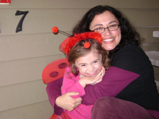 Maya and daughter ladybug